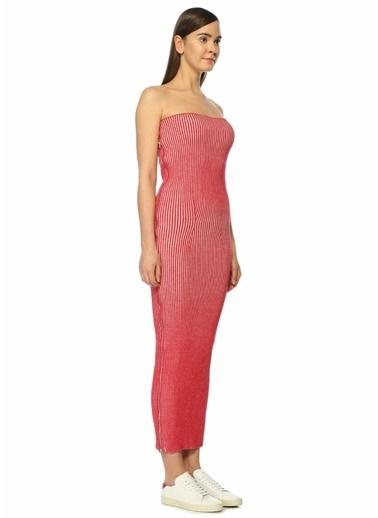 MM6 by Maison Martin Margiela Straplez Dar Elbise Kırmızı
